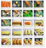 Recept van Paff-gebakje met saslmon en spinazie Royalty-vrije Stock Afbeeldingen