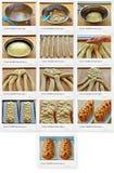 Recept van Zoet Challah-brood Stock Afbeelding
