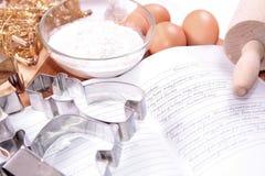 Recept voor cake Stock Afbeeldingen