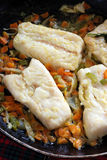 Recept voor kabeljauw Royalty-vrije Stock Fotografie