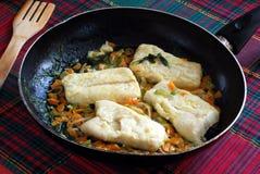 Recept voor kabeljauw Stock Afbeelding