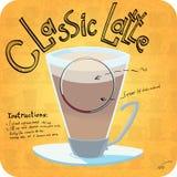 Recept voor koffie Royalty-vrije Stock Afbeelding