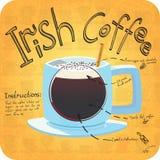 Recept voor koffie Stock Afbeeldingen