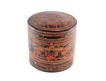 Receptacle for betel box for pounding betel and areca, formerly used by old women in Thailand asia.  Royalty Free Stock Image