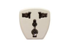 Receptacle in white background Royalty Free Stock Images