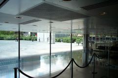 Reception. Entrance and reception in a modern building royalty free stock images