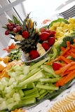 Reception appetizer. A vegetable and fruit appetizer at a reception Royalty Free Stock Photos