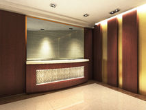 Reception Area. A reception area in an office block royalty free illustration