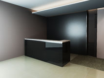 Reception Area. A reception area in an office block. (A blank marble board for placing company logo Stock Photos