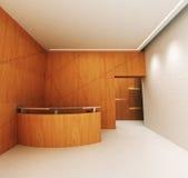 Reception Area. A reception area in an office block vector illustration