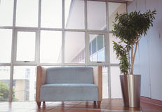Reception area with couch and window Royalty Free Stock Photo