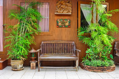 Reception area on northern Thai house Royalty Free Stock Photos