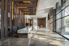 Reception area of a sales office Royalty Free Stock Photos