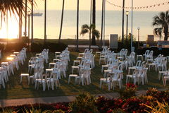 Reception on the beach Stock Photography