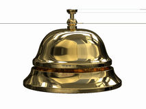 Reception bell. 3d render of Reception bell Royalty Free Stock Photo