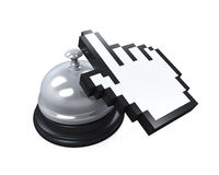 Free Reception Bell And Hand Cursor Royalty Free Stock Photo - 42349485
