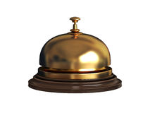 Reception bell (gold) Stock Photos