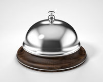 Reception bell isolated on white background Stock Photos