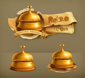 Reception bell, vector icons Royalty Free Stock Photo