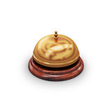 Reception bell  on white. Background Stock Photos