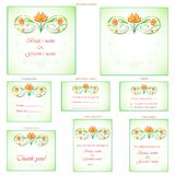 Reception Card. Illustration of set of wedding reception invitation card Stock Photography