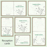 Reception card set Stock Images