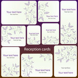 Reception card set Royalty Free Stock Photo