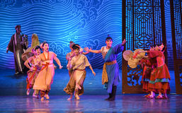 "The reception congratulate friends-Dance drama ""The Dream of Maritime Silk Road"". Dance drama ""The Dream of Maritime Silk Road"" centers on the plot of Stock Image"