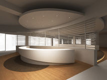 Reception Counter. A reception area in an office block royalty free illustration