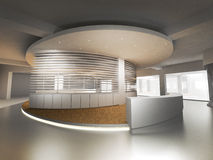 Reception Counter. A reception counter in an office block royalty free illustration