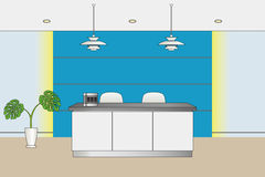 Reception counter. Illustration .Business Background Royalty Free Stock Image