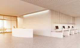 Reception counter and conference room Royalty Free Stock Image