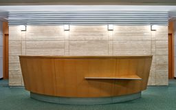 Reception desk royalty free stock image
