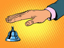Free Reception Desk Call Bell Hand Stock Images - 60196434