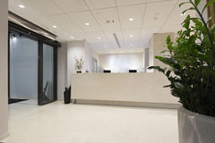 Reception desk in hotel Stock Photos