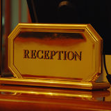 Reception desk in hotel Stock Photography