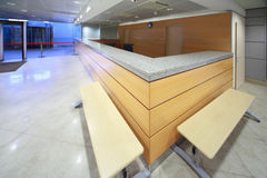 Reception desk on included in establishment. Shallow depth of focus royalty free stock photos
