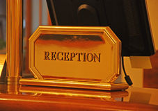Reception desk Royalty Free Stock Images