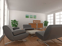 Reception Desk and Waiting Area Royalty Free Stock Image