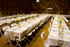 Reception Dinner Tables Royalty Free Stock Photography