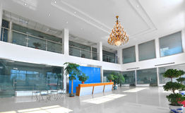 Reception empty. Big empty reception with modern decoration Stock Photo