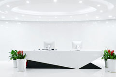 Reception empty. Empty reception with modern decoration Stock Photos
