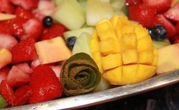Reception fruit tray of hors d'oeuvres royalty free stock images