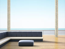 Reception hall at the beach back Sofa simple Stock Photography