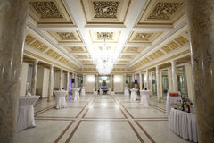 Reception hall. Great salon reception. The living room of the royal palace - Cotroceni National Museum Stock Photography