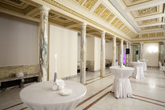 Reception hall. Great salon reception. The living room of the royal palace - Cotroceni National Museum Stock Photo