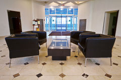 Reception hall with armchairs Stock Photography