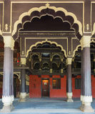 Reception hall at Tipu Sultan Palace in Bangalore. Royalty Free Stock Photos