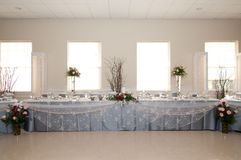 Reception head table royalty free stock photos