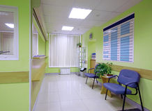 Reception in hospital Stock Photo